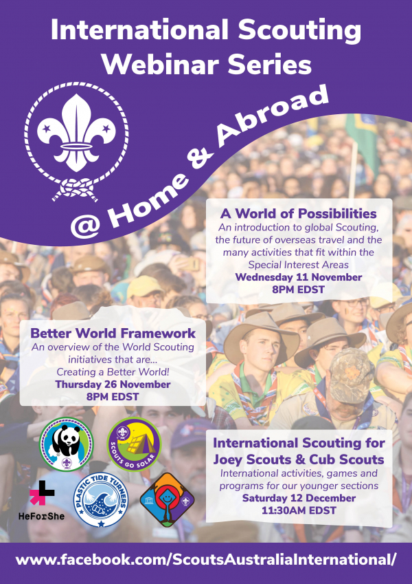 International Scouting Webinar Series - @ Home and Abroad!